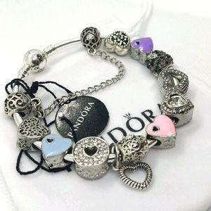 Pandora Bangle w/ Heart Charms